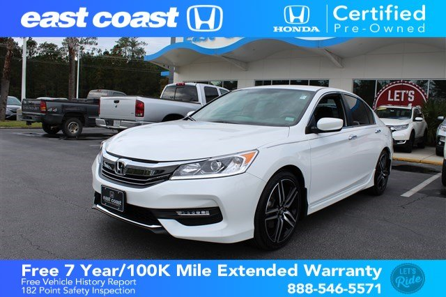 Certified Pre-Owned 2017 Honda Accord Sedan Sport 1 Owner, Low Miles
