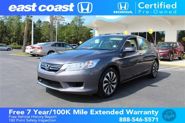 Certified Pre Owned 2014 Honda Accord Hybrid Touring W/Navigation U0026 Sunroof