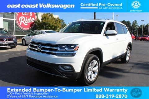 Certified Pre-Owned 2018 Volkswagen Atlas 3.6L V6 SEL 1 owner, Low Miles
